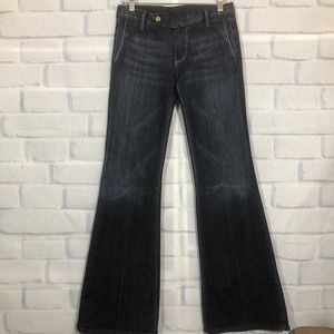7 For All Mankind Flared Leg Jean Trousers
